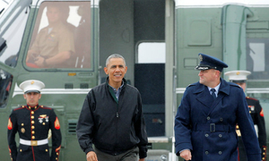 United States President Barack Obama departs for Vietnam's visit