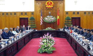 U.S. President Obama meets with Vietnam Prime Minister and Party Chief