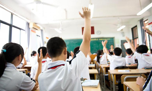 Vietnamese students in a class. Photo by VnExpress/Lan Ha
