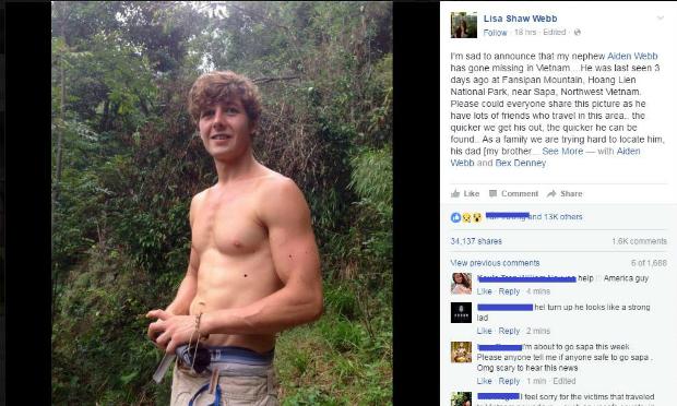 Missing British tourist sparks massive rescue operation in northern Vietnam