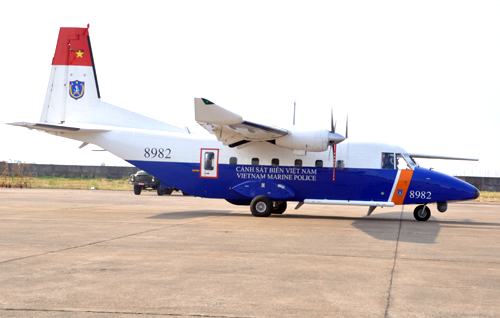 A Vietnam's CASA aircraft. Photo by VnExpress/Quoc Thang