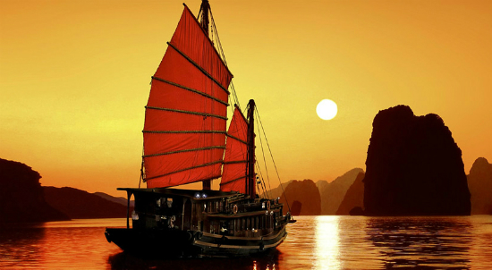 The sunrise or sunset on a cruisewould take your breath away.