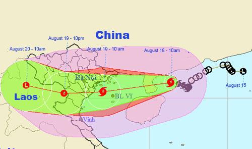 Typhoon Dianmu hits northern Vietnam