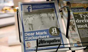 Norway's PM attacks Facebook 'censorship' over Vietnam photo