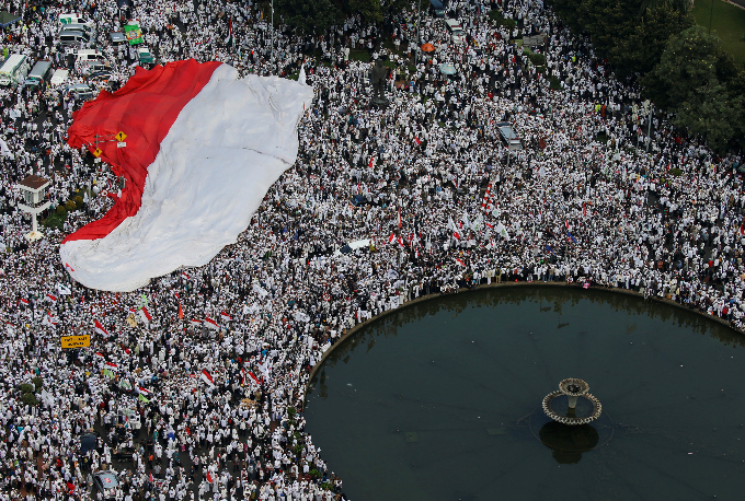 Indonesia's president blames 'political actors' for stirring Muslim protest