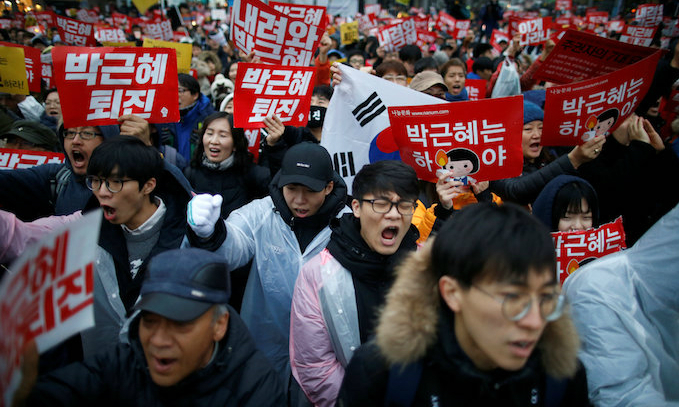 Hundreds of thousands gather in S.Korea for 5th week of protests against Park