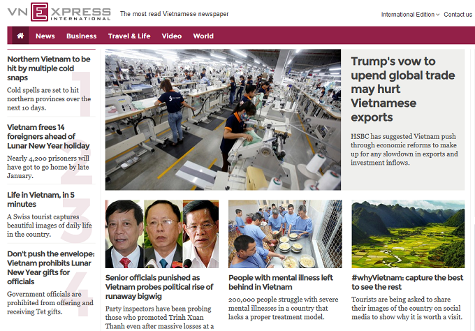 VnExpress International named among top 15 English news websites in Southeast Asia