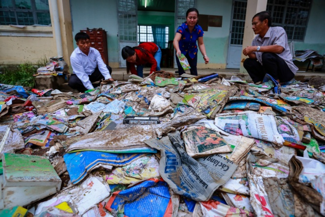 After the flood: Vietnamese schools rush to save books, classrooms