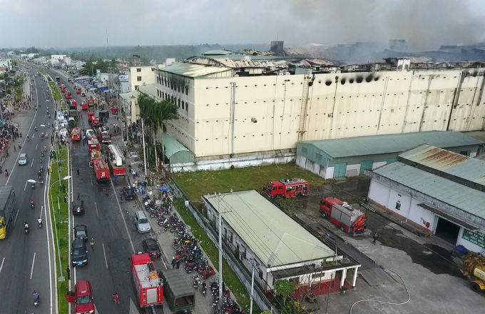 Taiwanese garment firm faces $6 mln loss in Vietnam's fire-ravaged plant