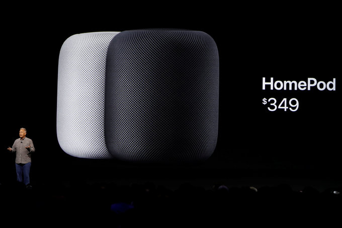 Apple unveils HomePod speaker, taking on Amazon and Google