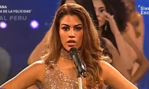 Contestants turn Miss Peru pageant into protest
