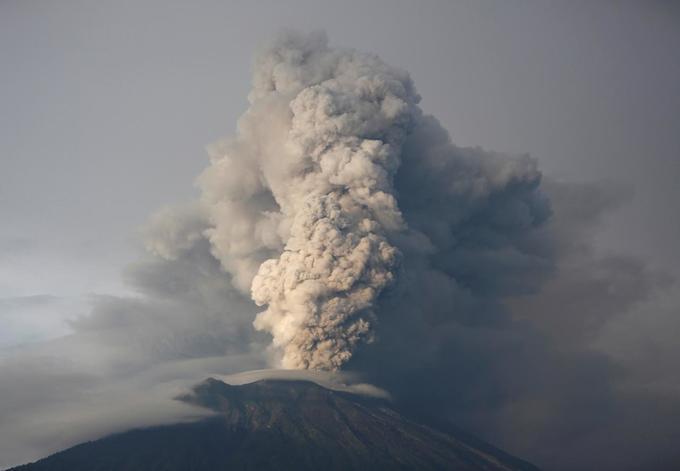 Indonesia shrinks danger zone around grumbling Bali volcano