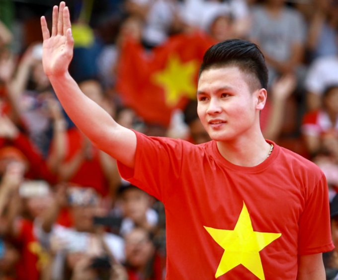 Midfielder Quang Hai. He has won the best goal award of the AFC U23 as decided by an online voting by AFC.