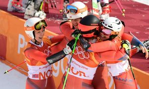 Swiss win inaugural team gold, Norway set medals record