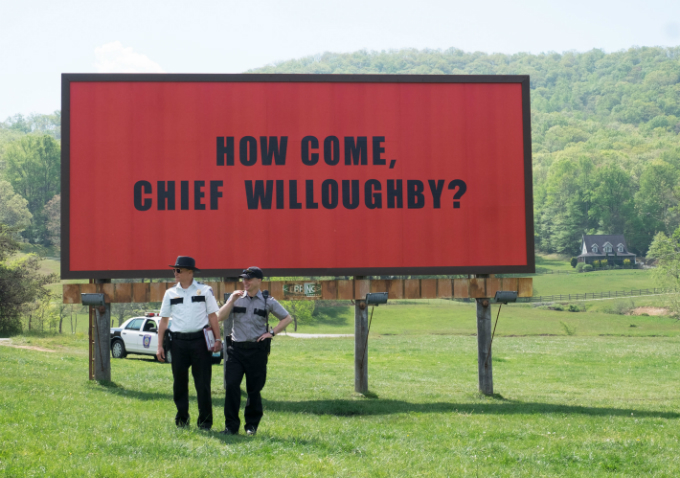 A scene from Three Billboards Outside Ebbing, Missouri. Photo by Reuters/Fox Searchlight