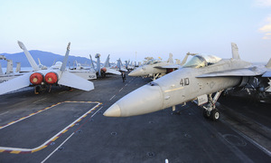 Take a look at giant US aircraft carrier in central Vietnam