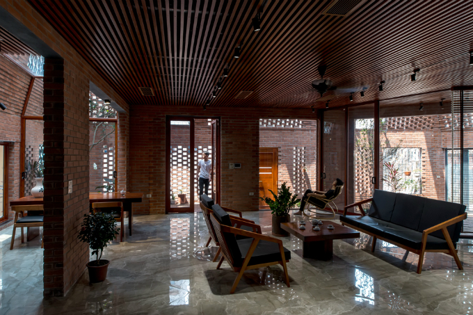 The interior of the house for four people. Photo by VnExpress/Nguyen Tien Thanh