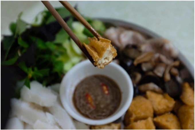 The fried tofu - creamy and crispy at the same time.