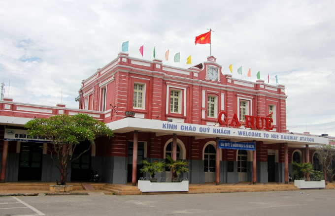 The Hue Railway Station was built in 1908 by French. Photo by VnExpress