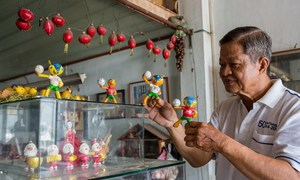 Cracking art: the Vietnam craftsman making World Cup mascots from eggshells