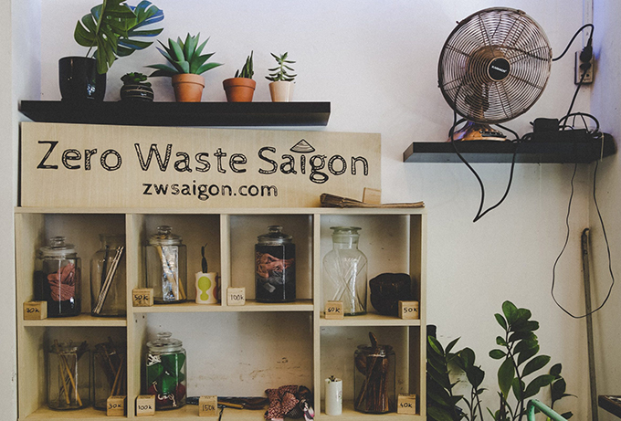 The Zero Waste Saigon products available at Italianis at 17 Han Thuyên, District 1, Ho Chi Minh City. Photo by Zero Waste Saigon.