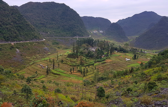The Hmong kings palace sits in Sa Phi Vallye, 15 kilometers from Dong Van District center. Photo by VnExpress/Ngoc Thanh