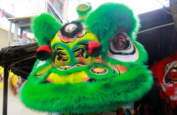Lion costume makers have their hands full in central Vietnam