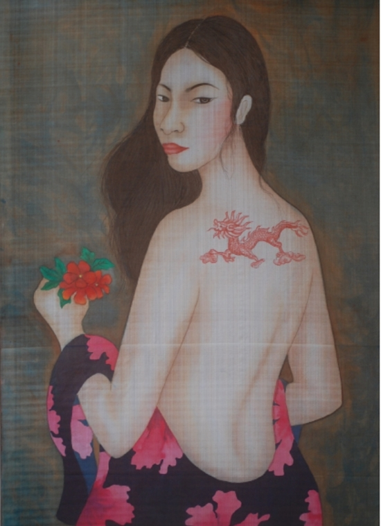 Silk paintings collection celebrates womens beauty, complexity