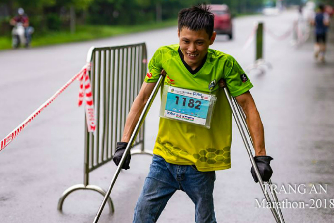 Dang at the Trang An 2018 marathon. Photo courtesy of Pham Vu Vu