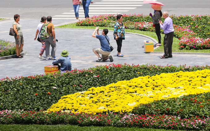 New flower garden adds flourishing charm to Saigons famous cathedral - 5