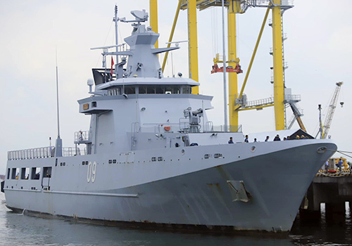 Brunei patrol vessel docks in central Vietnam