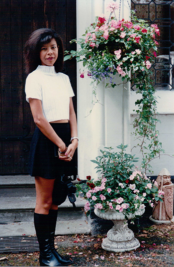 Suzanne Thi Hien Hook in the suburb of London in 1994. Photo courtesy ofSuzanne.