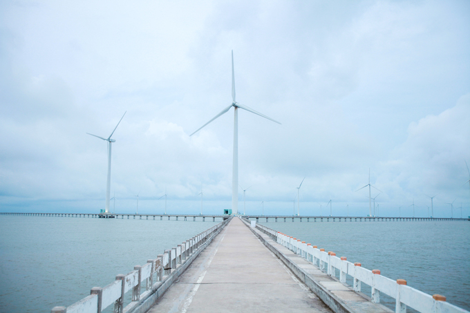 Visitors enjoy the breeze at Vietnams first and biggest wind farm