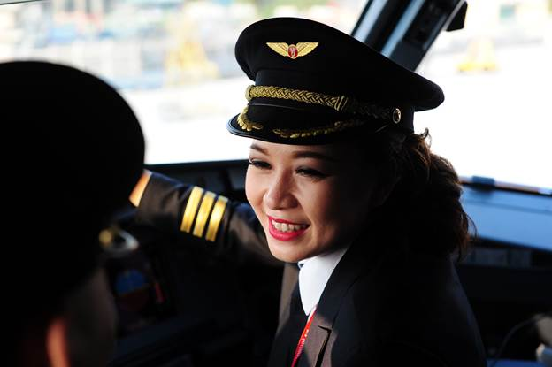 I have more pressure, but want no favors: female pilot