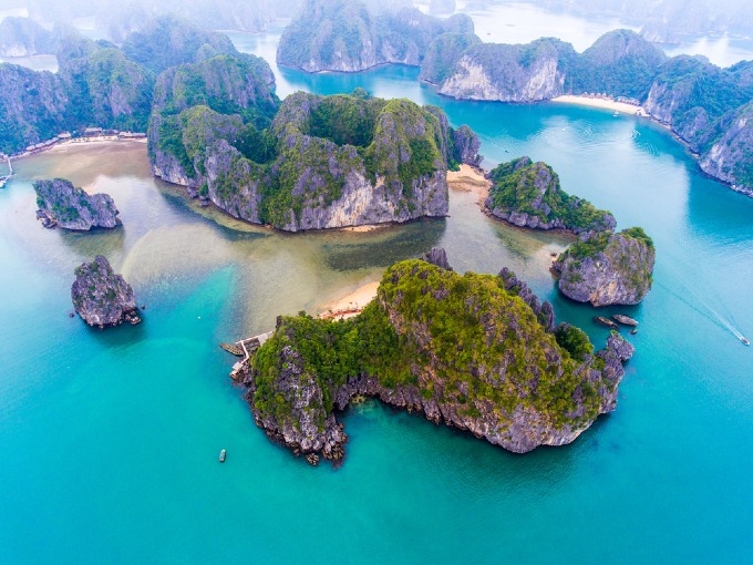 Cat Ba Island from above. Photo by Shuttertock/Jimmy Tran