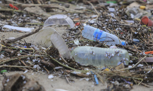 An ocean of trash washes up on central Vietnam beaches