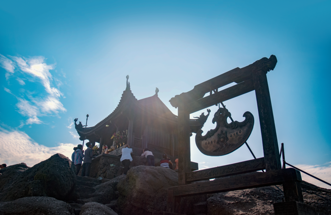 Yen Tu Mountain in Quang Ninh Province is always flooded with pilgrims during the lunar new year. Photo by Shutterstock/tranduong