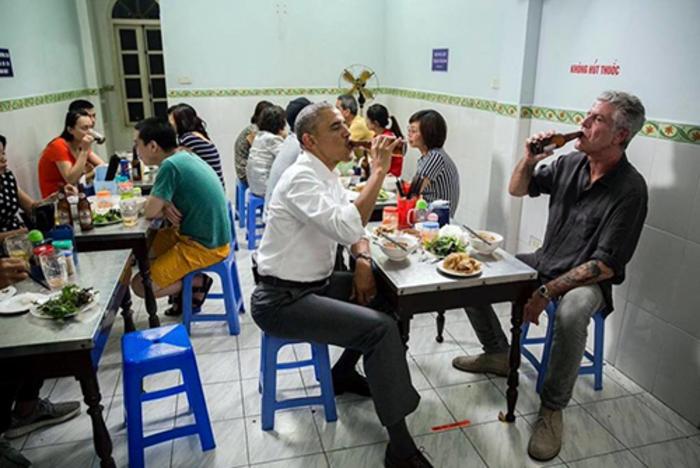 U.S. President Obama ate bun cha