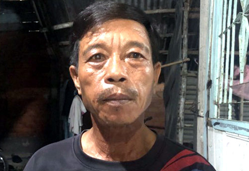Worker Pham Van Bo, who escaped the deadly wall collapse.