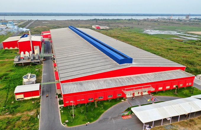 Tan Hiep Phat Groups new beverage factory in Hau Giang Province.