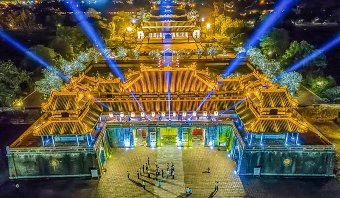 The Hue Imperial Citadel seen from above. Photo by Nong Thanh Toan