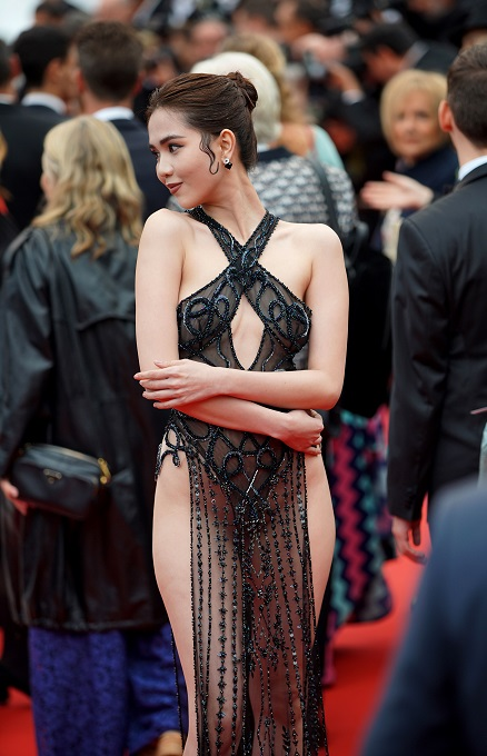 Ngoc Trinh's barely-there Cannes dress arouses strong opinions