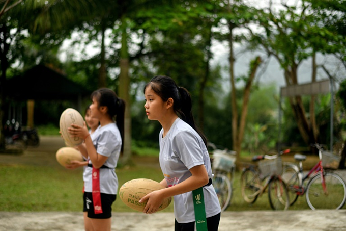 More than half of the players in the programme are female. Photo by AFP/Manan Vatsyayana