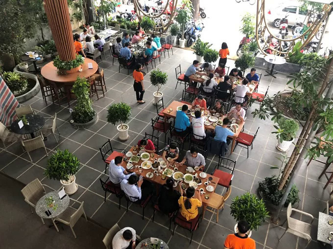 Saigon restaurant offers a verdant breathing space