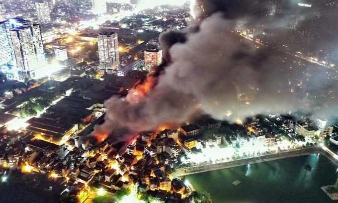 Hanoi light bulb warehouse blaze destroys two thirds of stocks