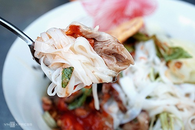 A specialty from Lang Son City, up north Vietnam, the stall offers a whole different variety of the