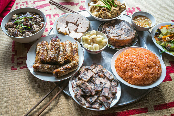 Traditional northern food during Lunar New Year. Photo by Shutterstock/Vietnam Stock Images.