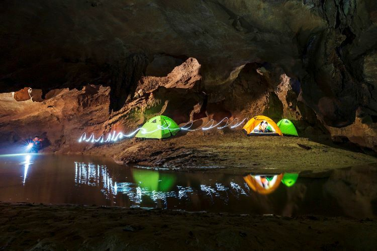 Tourists can campnext to the cool underground water.