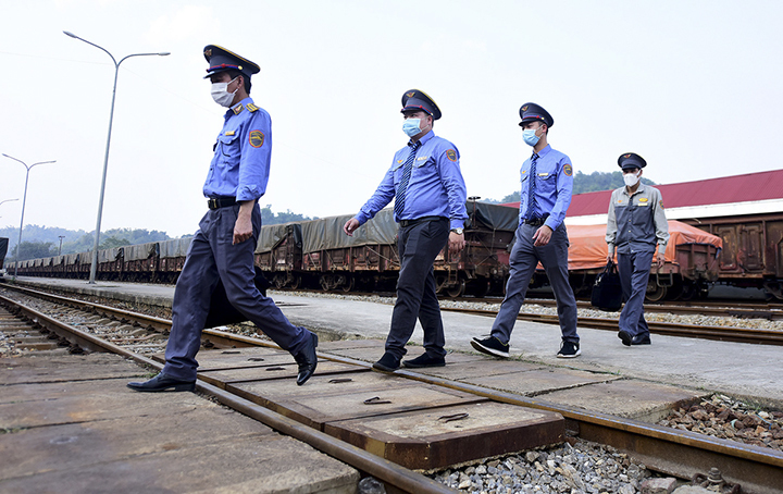 The four employees leave the train. They are aged between 28 and 53, and volunteered to work aboard, fully aware of the outbreak in China. The four will work for two weeks before they are quarantined for 14 days and another group of four will replace them.