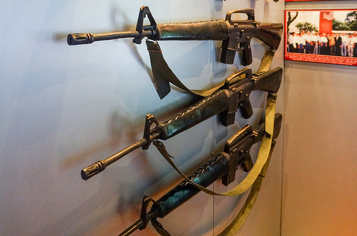 Some weapons of the Vietnam special tasks are put on display.
